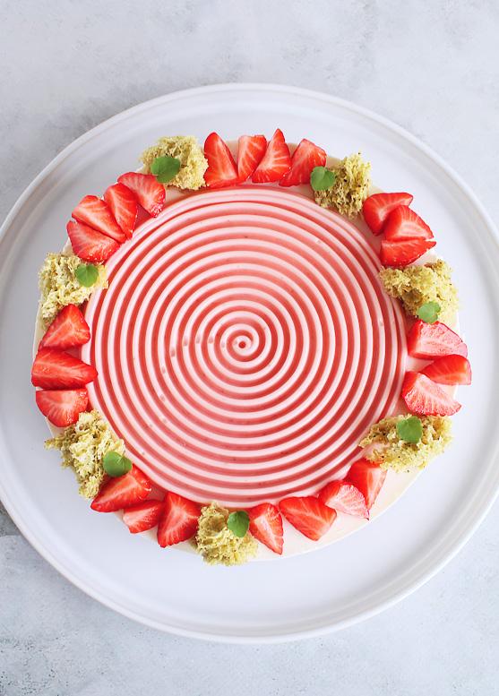 Kwarktaart Aardbeienmousse